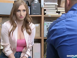 Torrid and slutty offending floozie Skylar Snow lures cop and gets fucked hard