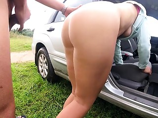 Outdoor fucking with the addition of sucking from reality aussie couple
