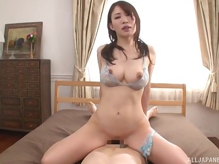 Japanese with large boobs, lodging cock riding porn special