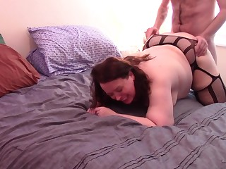 Horny Andie Gets Pounded in Fishnets