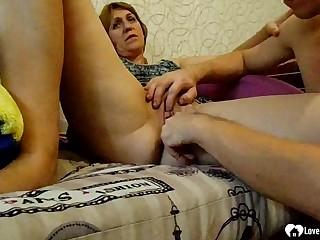 Nasty stepmom gets her vagina fingered deep