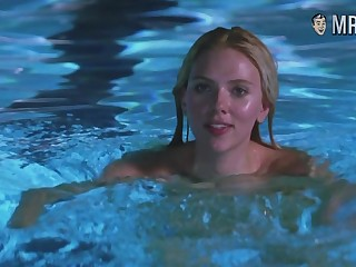 Scarlett Johansson swimming naked in the pool and anticipating sexy as hell