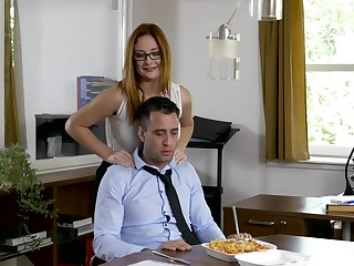 Office MILF wants the new guy's dick before going abode