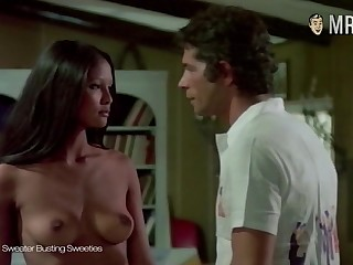 Indonesian Dutch actress Laura Gemser flashing her chirpy well mature titties