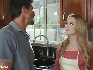 Stepdad can't thumb one's nose at a young woman's seduction and she's got such a meticulous ass