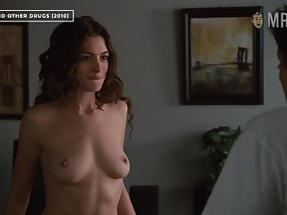 Anne Hathaway bares her great tits apropos Hollywood's most downcast scene