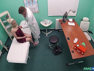 Teen hottie Anna Rey receives a rough dicking with rub-down the doc's office