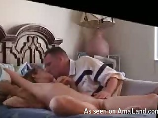This blonde nympho is a volcano of passion when she's in burnish apply bedroom