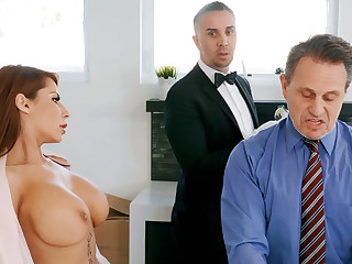 Blistering butler is get-at-able to anal fuck housewife