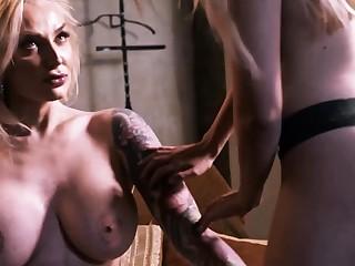 Lesbian bimbos lick their whore holes